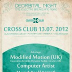 DEORBITAL NIGHT  with MODIFIED MOTION (UK) & COMPUTERARTIST