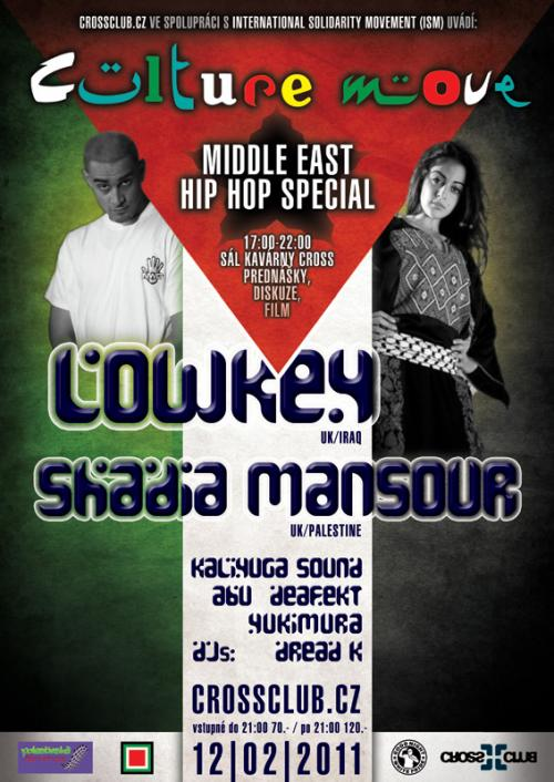 CULTURE MOVE with LOWKEY   SHADIA MANSOUR 12.2.2011 CROSS tiskovka 8ba95926e69
